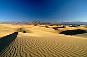 Sand dunes under blue sky, Death Valley, California, North America, America