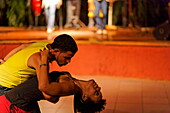 Dancing couple, Salsa School, Via Danza, Havana, Ciudad de La Habana, Cuba, West Indies