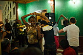 People dancing in Casa de la Trova, Santiago de Cuba, Santiago de Cuba, Cuba, West Indies