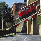 Funicular, San Sebastian. Guipuzcoa, Basque Country, Spain