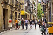 Street scene in the old town, San Sebastian. Guipuzcoa, Basque Country, Spain