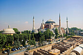 St Sophia Mosque and archaeological site,  Istanbul,  Turkey