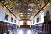 Ecuador.Quito.Centro historico.Refrectorio or former dining room of the convent of Santo Domingo (XVI_XVII century).