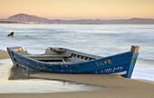 Abandoned, Beach, Boat, Cadiz, Patera, Sea, Seascape, Spain, Sunset, Tarifa, A75-828827, agefotostock