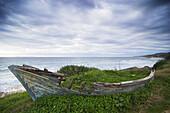 Abandoned, Andalucia, Andalusia, Boat, Cadiz, Old, Patera, Seascape, Spain, Tarifa, A75-843861, agefotostock
