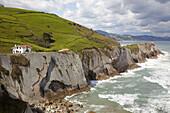 Flysh rock strata,  Zumaia,  Guipuzcoa,  Basque Country,  Spain