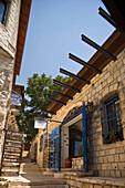 Art galleries artists quarter safed old hilltop village upper gallilee. Israel.