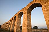 Old ottoman turkish aquaduct lohamei hagetaott kibbutz acco. Israel.