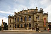 Rudolfinum concert hall jan palace square old town stare mesto. Prague. Czech Republic.
