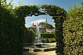 Fountain wallenstein palace ornamental garden mala strana. Prague. Czech Republic.