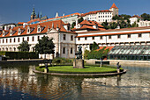 Pond wallenstein palace ornamental garden mala strana. Prague. Czech Republic.