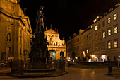 King charles iv statue knights square old town stare mesto. Prague. Czech Republic.