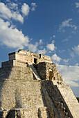 Mexico, Yucatan, Uxmal, Pyramid of the Magician