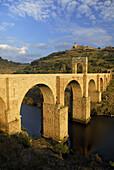 Roman bridge, Alcantara. Caceres province, Extremadura, Spain