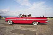 Classic red American 1959 Chevrolet Impala car, Trinidad, Sancti Spiritus Province, Cuba