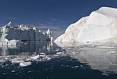 Icebergs in Disko Bay, UNESCO World Heritage Site, Ilulissat, Jakobshavn, Greenland, Denmark