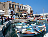 Harbour Scene, Rethymnon, Crete, Greek Islands