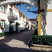 Walkway in the Marina, Puerto De Mogan, Gran Canaria, Canary Islands