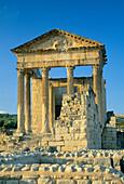 Roman Ruins, the Capitol, Dougga, The Tell, Tunisia