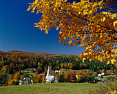 Rural Scene with Hamlet, Waites River, Vermont, Usa