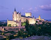 Alcazar Castle and Cathedral, Segovia, Castilla y Leon, Spain