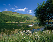View across Lake, Tal Y Llyn, Snowdonia, UK, Wales