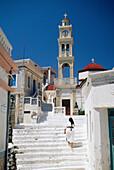 Main Square Scene, Olympos, Karpathos Island, Greek Islands