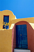 Colourful Architectural Detail, Oia, Santorini Island, Greek Islands