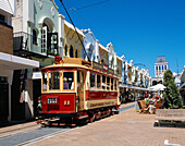 Tram in City Centre, Christchurch, South Island, New Zealand