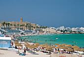 Beach Scene, Monastir, Sahel Coast, Tunisia