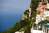 Houses on shore in the sunlight, Capri, Italy, Europe