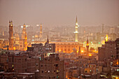 View at the islamic Old Town in the evening, Cairo, Egypt, Africa