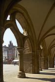 Arcade, town hall, Minden, North Rhine-Westphalia, Germany