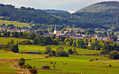 Outdoor photography, Early autumn, Day, View at Hallenberg, Sauerland, North Rhine-Westfalia, Germany, Europe