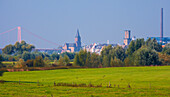 Late summer, View at Emmerich on Rhine, Lower Rhine, North Rhine-Westphalia, Germany, Europe