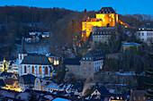 evening, Blankenheim, northern part of Eifel, outdoor photo, winter, snow, North Rhine-Westphalia, Germany, Europe