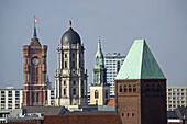 Towers of Brandenburg Museum, Town house, St. Mary's Church and Red Town Hall, Berlin, Germany