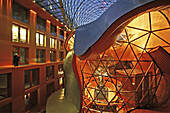 interior, DZ Bank, Frank O. Gehry, Pariser Platz 3, Berlin, Germany