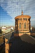 St Thomas Church, bird net, red brick, Kreuzberg, Mariannenplatz, Berlin, Germany