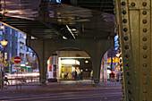 Schönhäuser Allee S-Bahn, snack bar, elevated railway