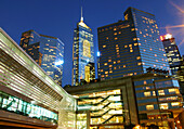 Convention and Exhibition Centre in front of Central Plaza tower, Wan Chai, Hong Kong, China