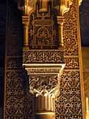 Detail of the Alhambra palace, doorway decoration, Granada, Andalucia, Spain
