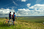 Cyclists admiring Pennine view at the Buckstones Deanhead, Cycling, Leisure & Activities