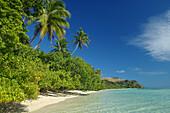 Tropical beach scene, Nananu-i-Ra, Viti Levu Island, Fiji