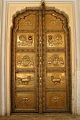 Doorway at the City Palace, Jaipur, Rajasthan, India