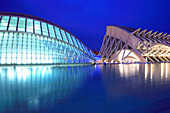 Ciudad de las Artes y las Ciencias at night, Valencia, Valencia Region, Spain