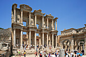 Library of Celsus and tourists, Ephesus, Aegean, Turkey