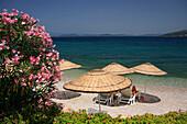 Torba Beach, beach scene, Torba, Aegean, Turkey