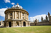 Radcliffe Camera with All Souls College, Oxford, Oxfordshire, UK, England