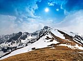 Mountainscape in the High Tatras, Tatra Mountains, Zakopane, Poland